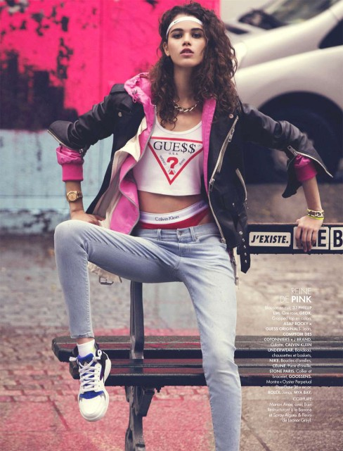 "Pauline Hoarau by DAVID BELLEMERE in ""Sport and the City"" for Elle France"