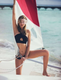 Toni Garrn by David Bellemere | Elle France June 2016