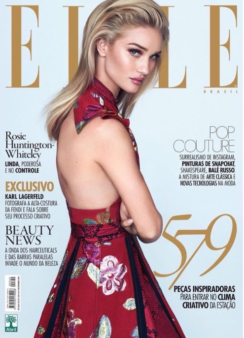 Rosie Huntington Whiteley By David Bellemere for Elle Brazil