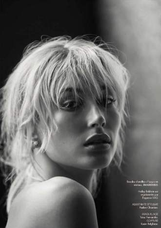 Hailey Baldwin for ELLE France captured by DAVID BELLEMERE in October 2016 Issue