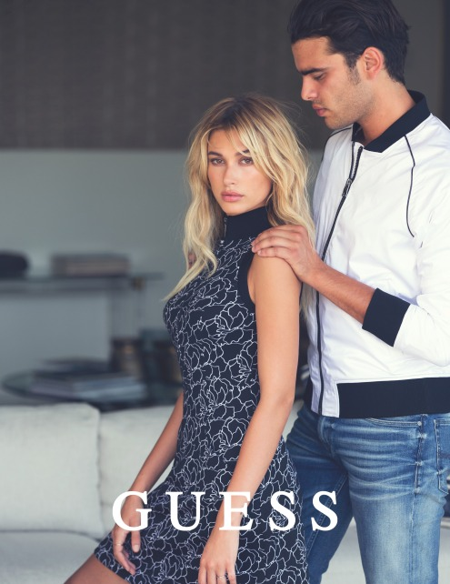 Guess Jeans Holiday 2016 Photography by DAVID BELLEMRE with Stefano Sala and Hailey Baldwin