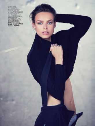 Cover story with Birgit Kos photographed by DAVID BELLEMERE for MARIE CLAIRE Italy December 2016