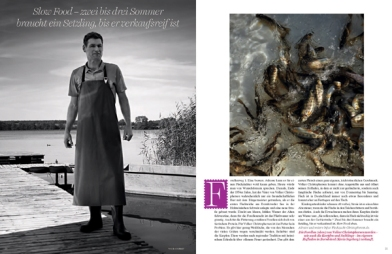 RALPH MECKE shoots 'Essay on culinary clarity or a fashionable journey to Germany! ' with Larissa Hofmann on the cover for VOGUE Gourmet November 2016