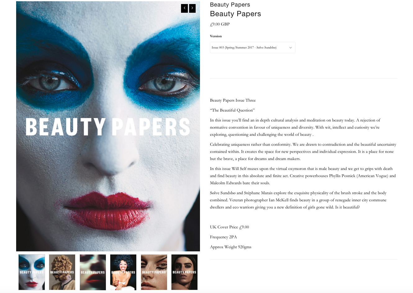 Beauty papers with IAIN MCKELL