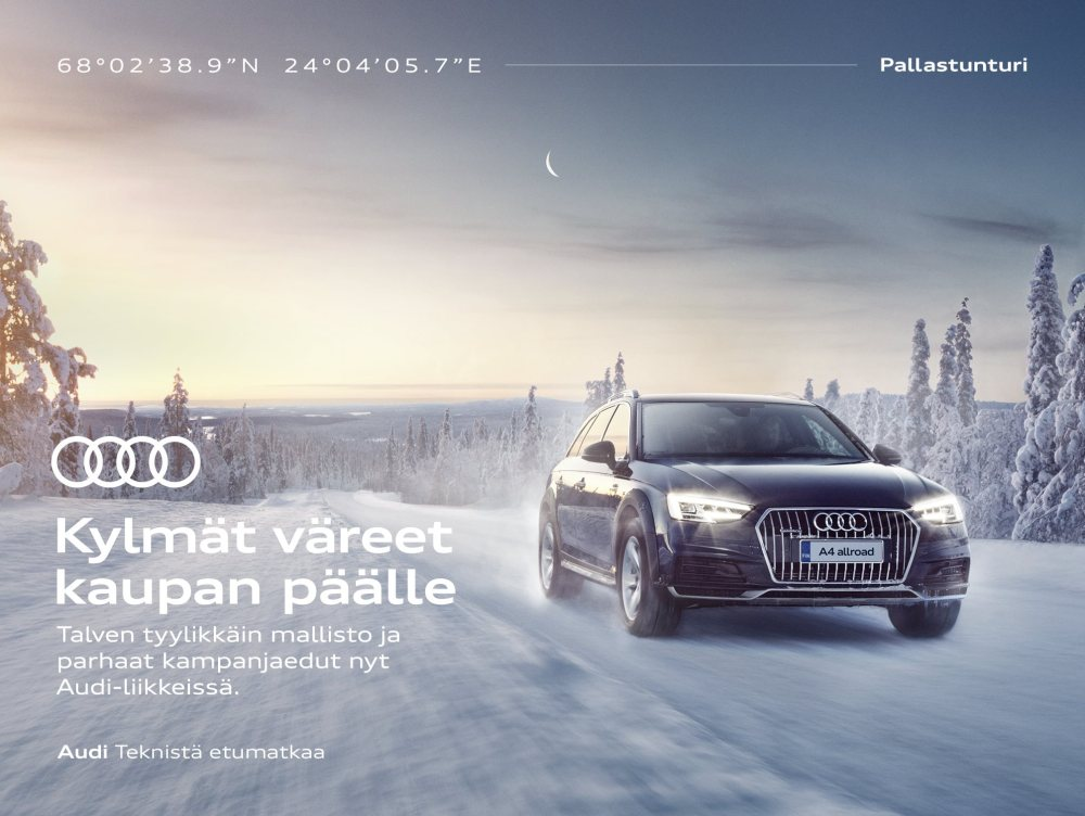 TUUKKA KOSKI shoots for Audi Finland
